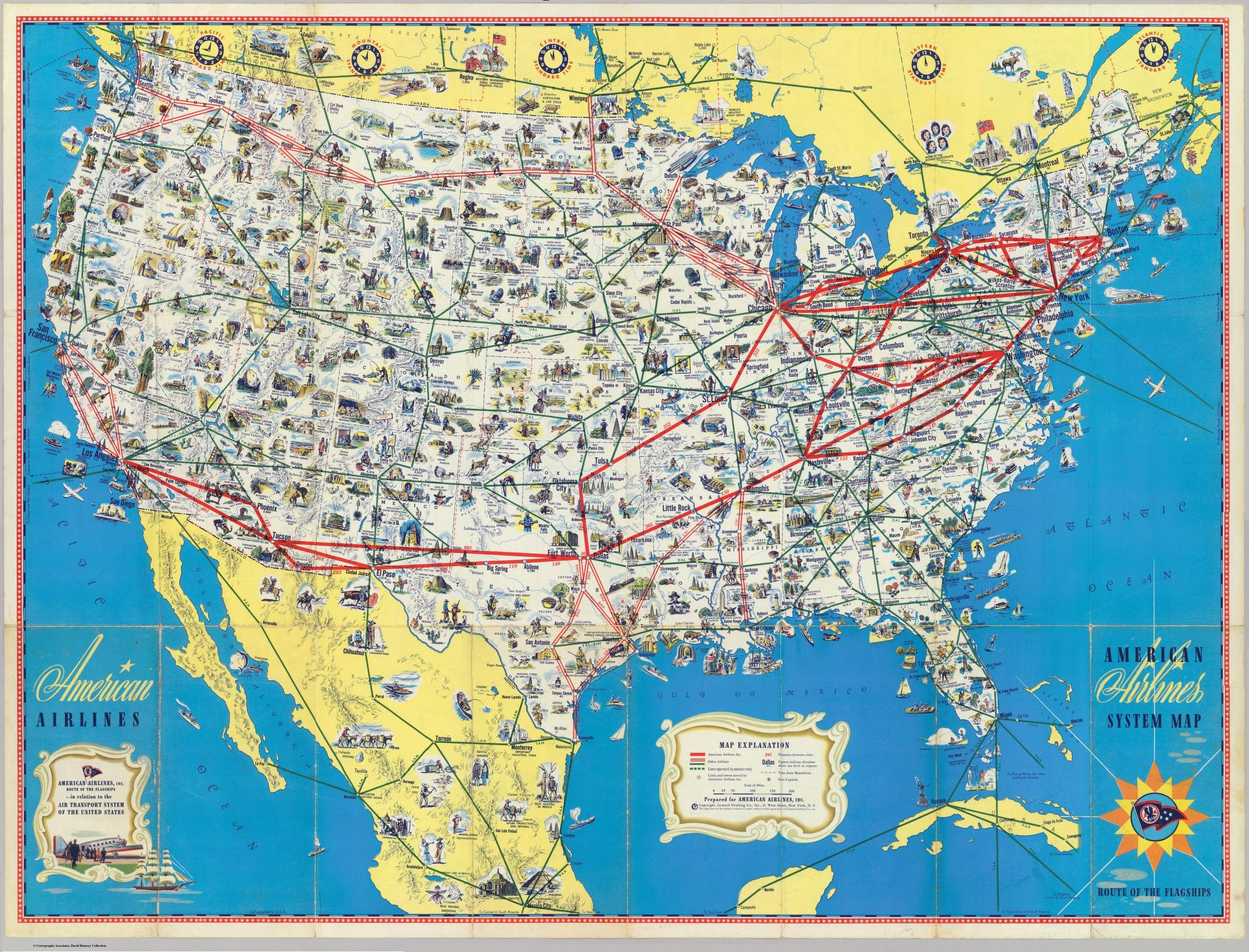 American Airlines Inc. - Overview map, Bo Justusson