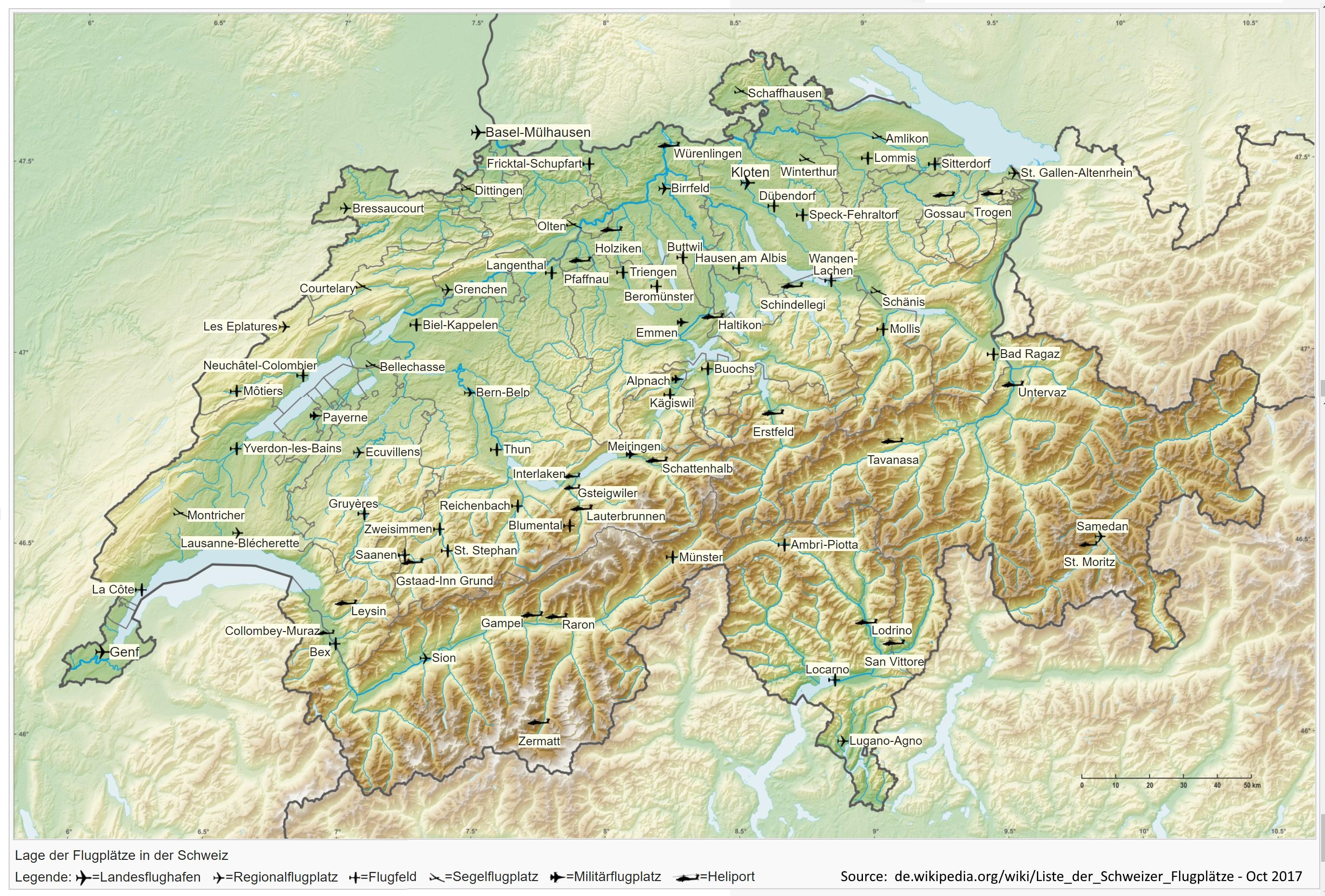 Schweiz Map Bo Justusson