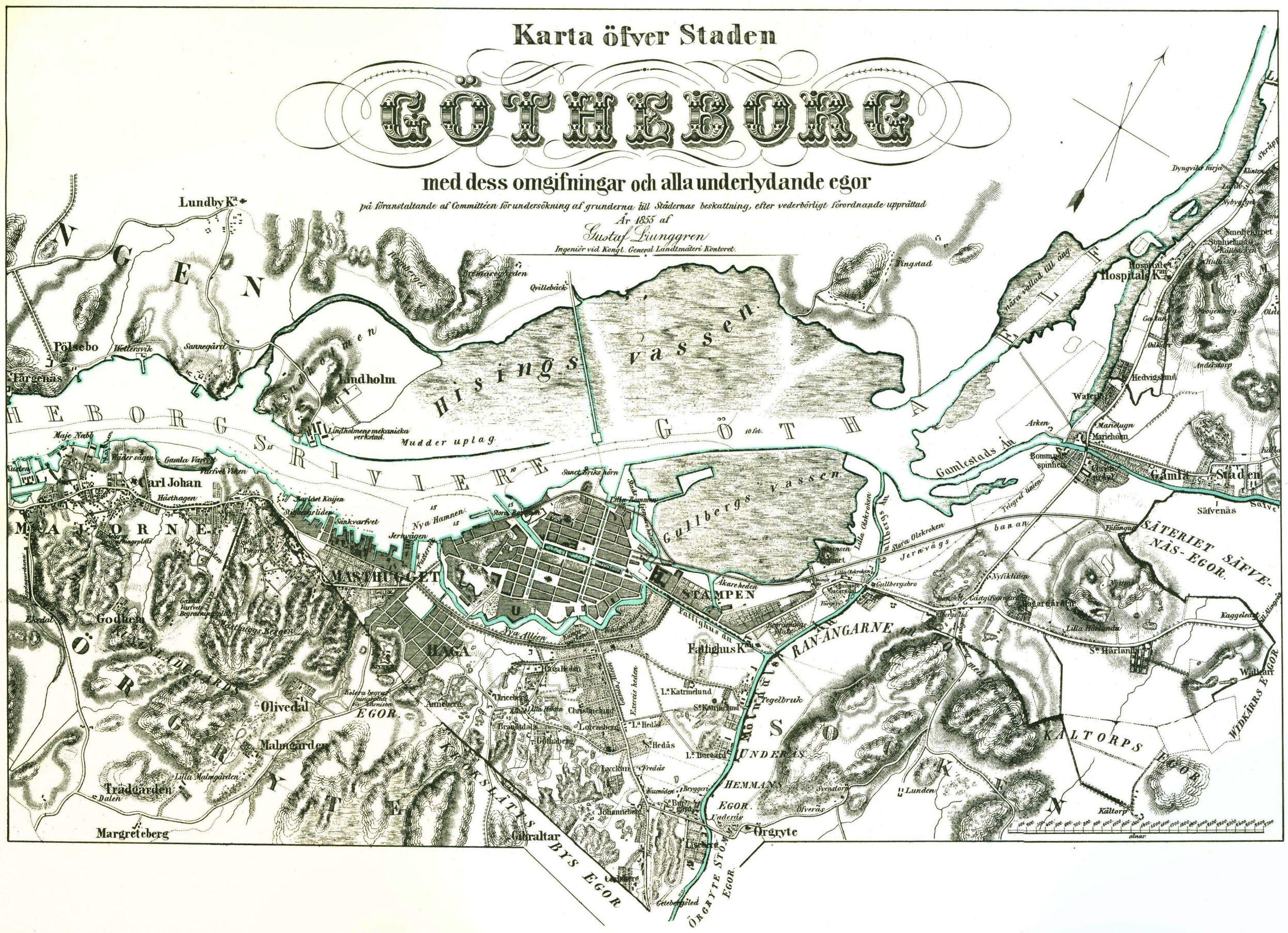 Stadskartor Ljunggrens 1860 Talet